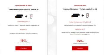 Forfait Freebox Mobile