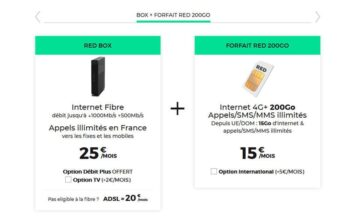 Forfait Box Red Mobile