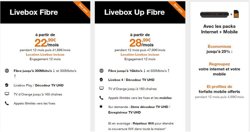 Forfait Orange Mobil Box Internet